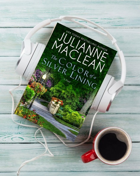 Two copies of Julianne MacLean's book, The Color of a Silver Lining.