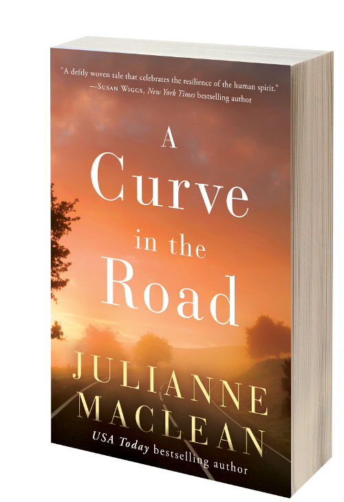 Flat book cover A CURVE IN THE ROAD